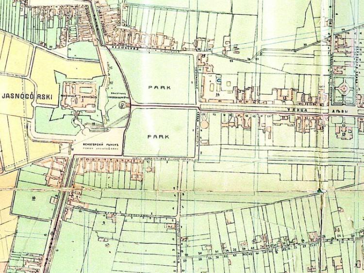 Plan Miasta Częstochowy z 1900r.