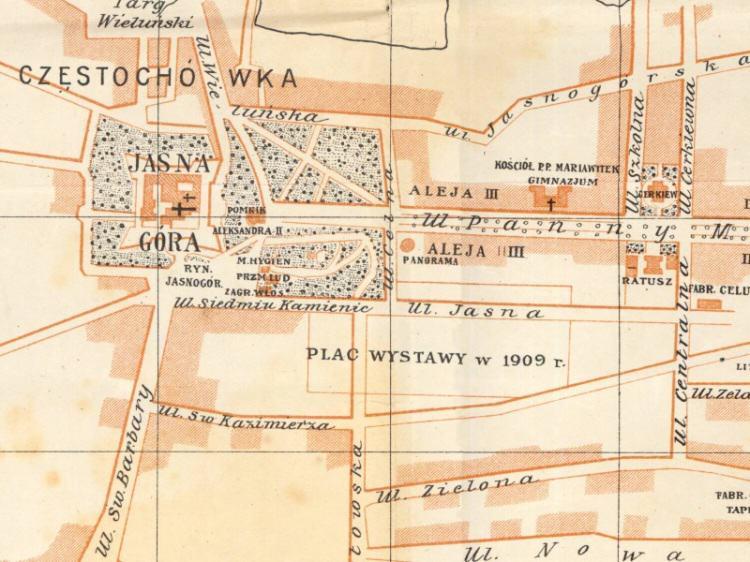 Plan Miasta Częstochowy z 1913r.