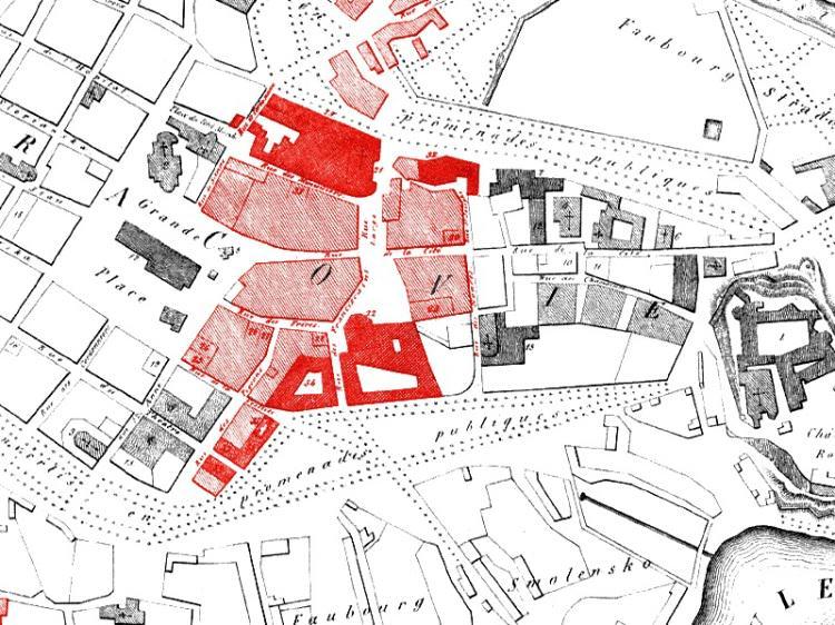 Plan Miasta Krakowa z 1850r.