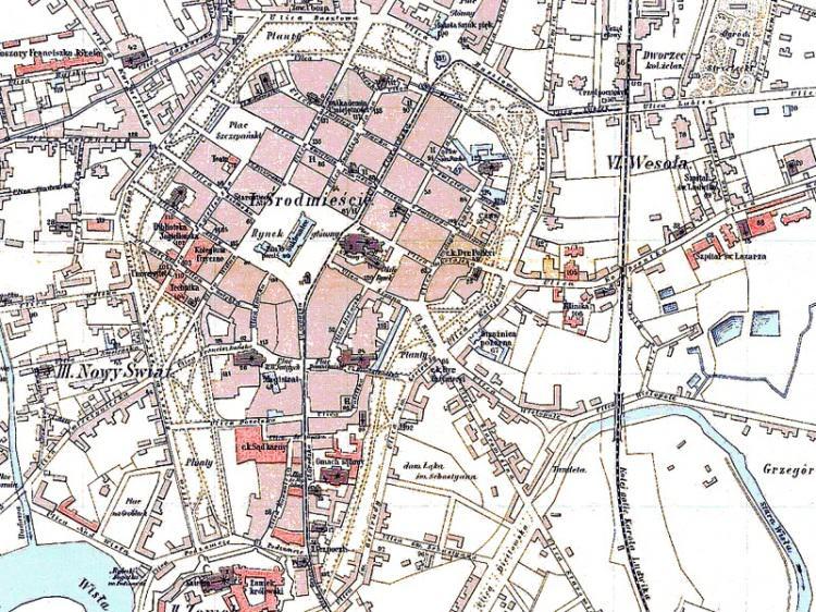 Plan Miasta Krakowa z 1883r.