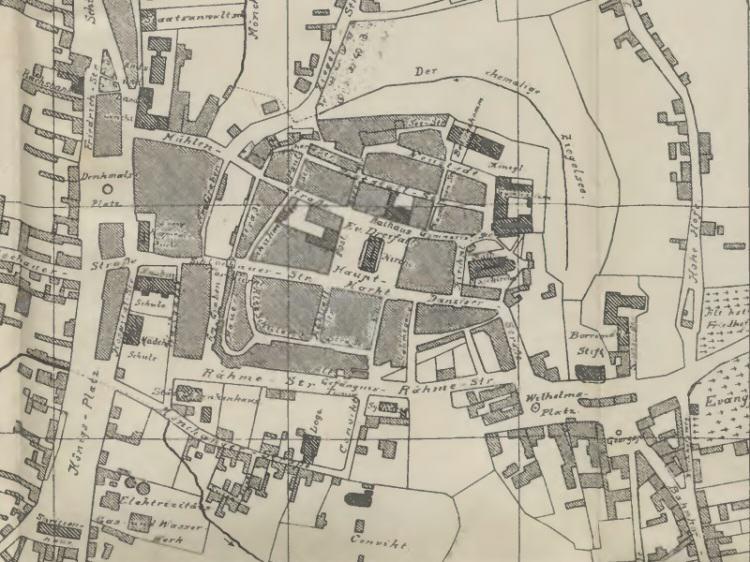 Plan Miasta Chojnic z 1908r.