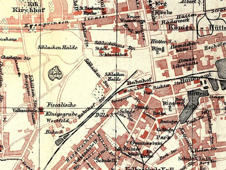 Plan Miasta Chorzowa z 1904r.