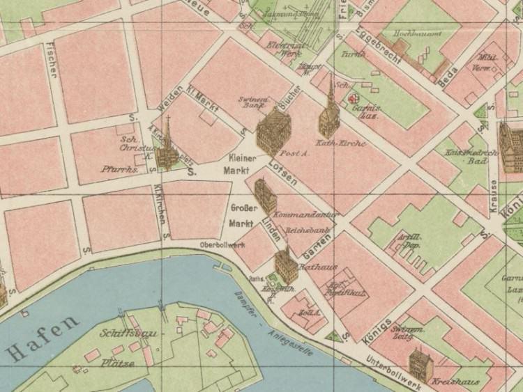 Plan Miasta Świnoujścia z 1911r.