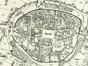 Plan Miasta Wielunia z 1823r.
